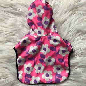 Neon Floral Dog Raincoat